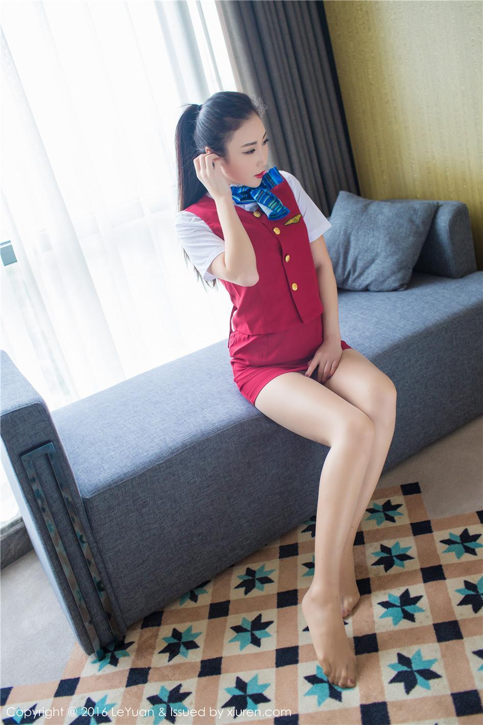 【星乐园】【Wendy智秀】 性感空姐Wendy智秀肉丝袜写真 VOL.021【25P】 制服