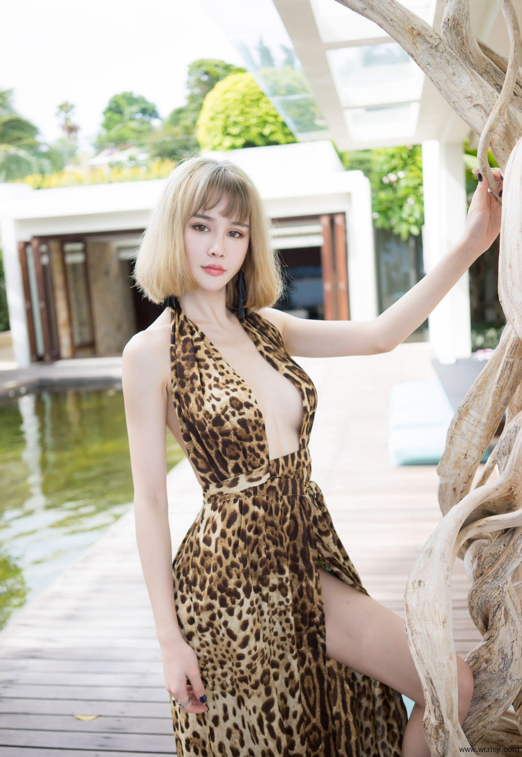 【个人写真】【Sukki】豹纹乳贴少妇Sukki胸涌巨乳喷血人体艺术高清写真【38P】 写真集