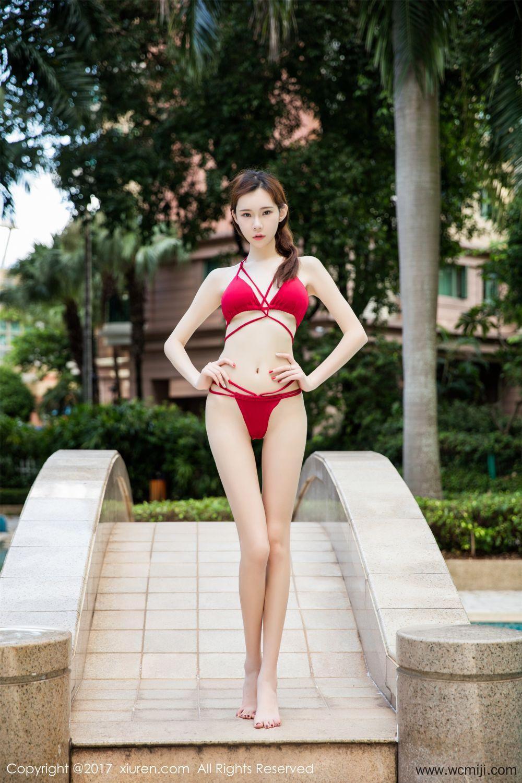 【模特】【萌琪琪】玲珑女神萌琪琪婀娜多姿亭亭而立泳衣高清写真【47P】 模特