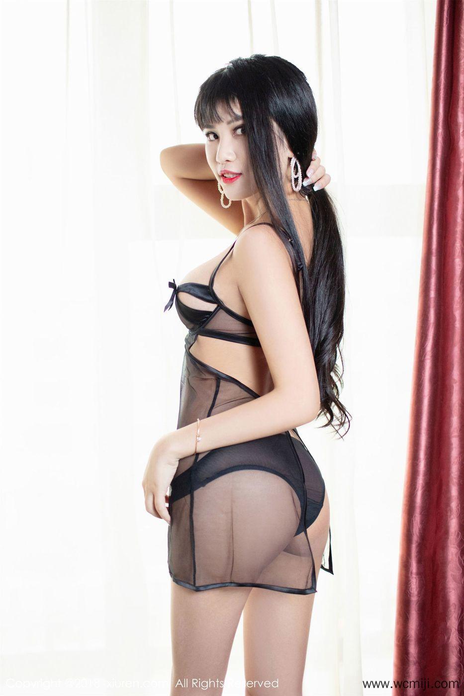 【写真集】【萌宝儿】性感美女萌宝儿情趣黑纱美腿酒店全裸人体艺术写真图片【46P】 性感内衣