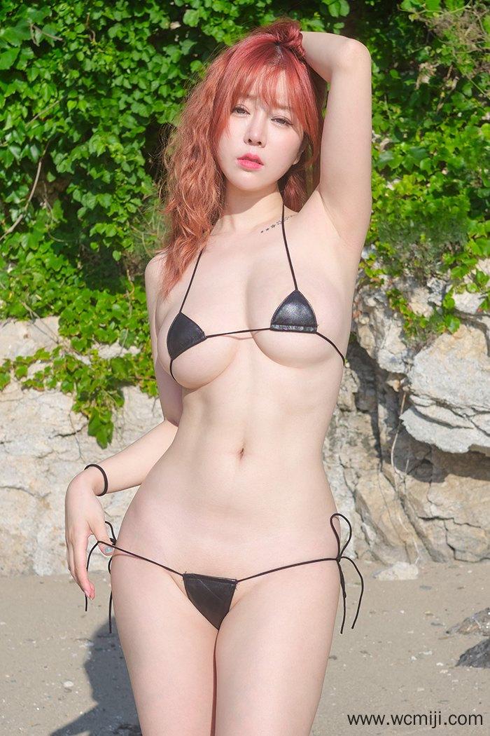 【模特】【王雨纯】性感白皙嫩模王雨纯沙滩上抚摸粉嫩美乳抢眼火辣【33P】 性感内衣