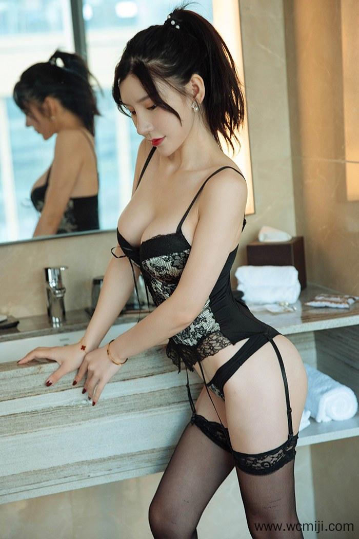 【模特】【周于希】长腿嫩白女模周于希黑丝修长美腿性感诱人翘写真【39P】 X丝玉足