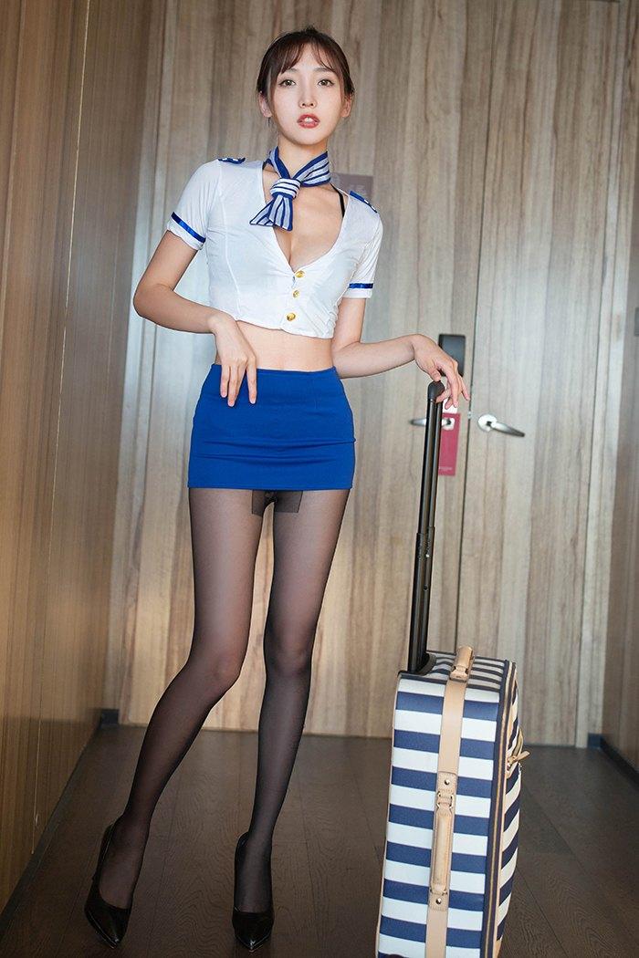 【模特】【陆萱萱】极品丽人空姐陆萱萱黑丝制服小憩片刻【50P】 制服