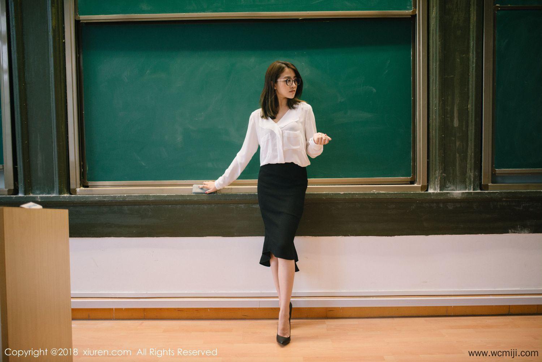 【模特】【许诺】气质女神许诺Sabrina教师OL制服俏皮招惹喜爱【44P】 写真集