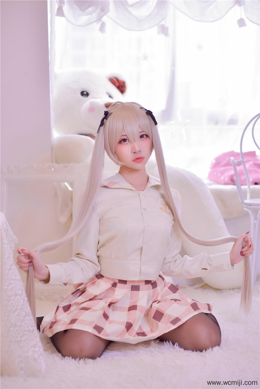 【私拍】【穹妹】甜美可爱穹妹校服黑丝COS私房照【46P】