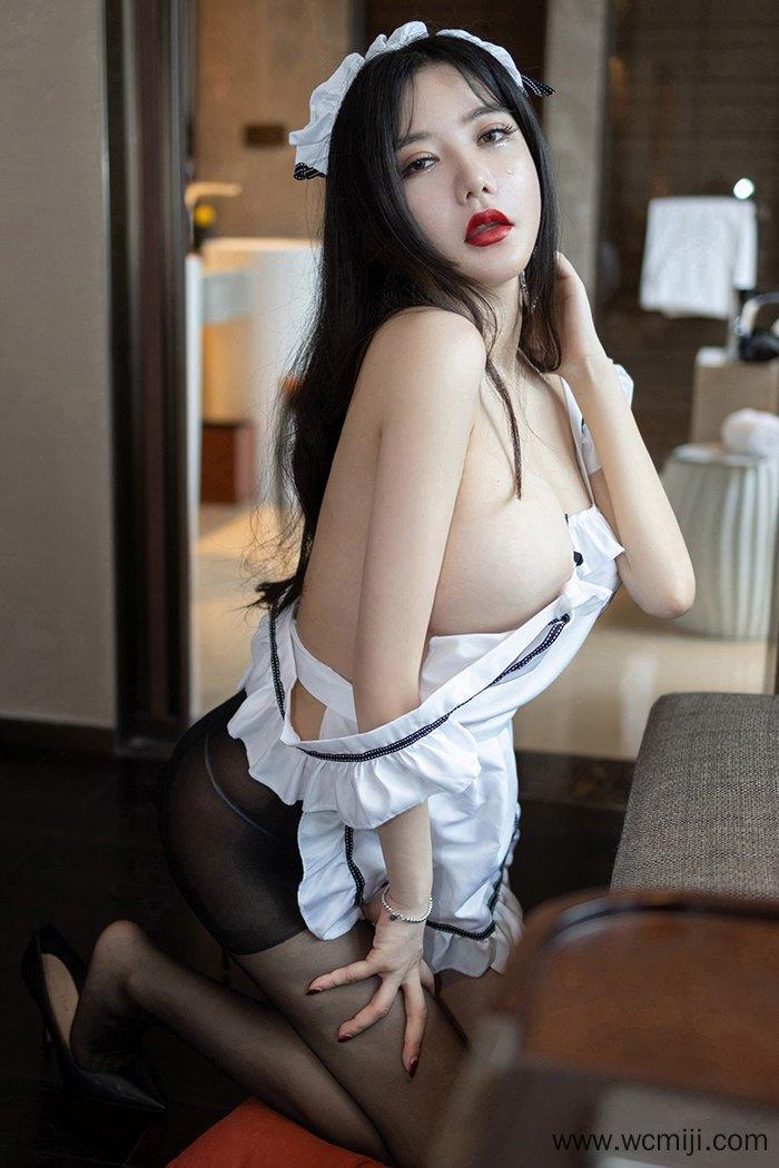 【性感美女】【心妍】妖娆火辣心妍小公主女仆装撩人黑丝蜜臀等你调教【37P】 制服
