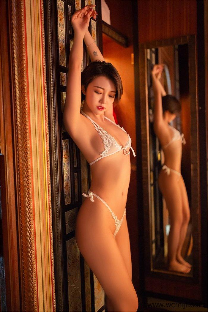 【网红】【冯木木】短发优美人妻冯木木每一寸肌肤都让人迷醉万分【44P】 性感内衣