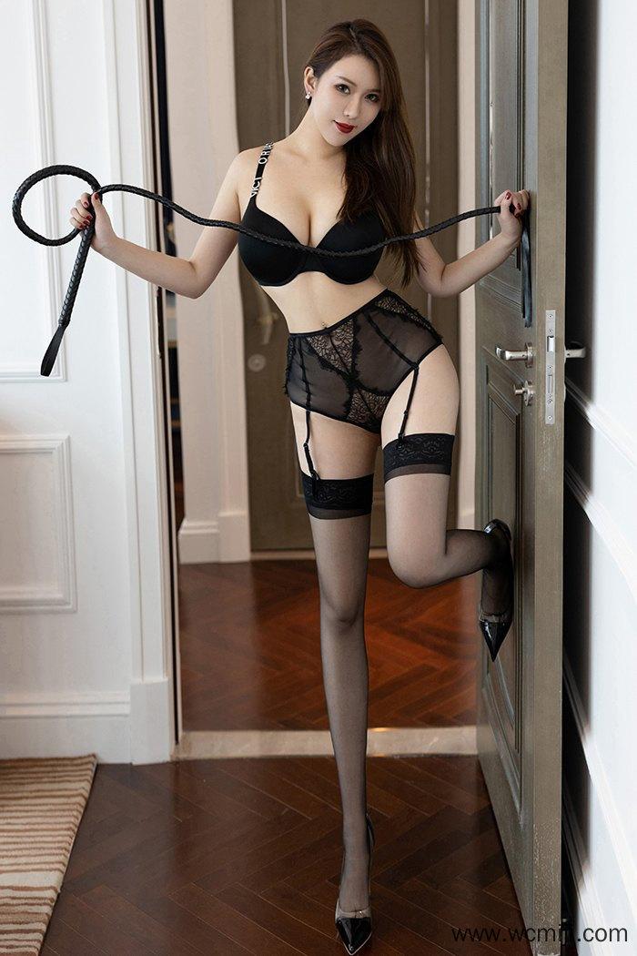【性感美女】【尤妮丝】风骚妖艳女皇尤妮丝黑丝吊带皮鞭调教【34P】