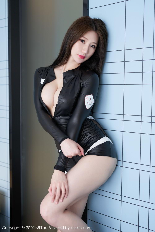 【蜜桃社】【檀香】气质御姐檀香Julia修长美腿性感腰窝【45P】